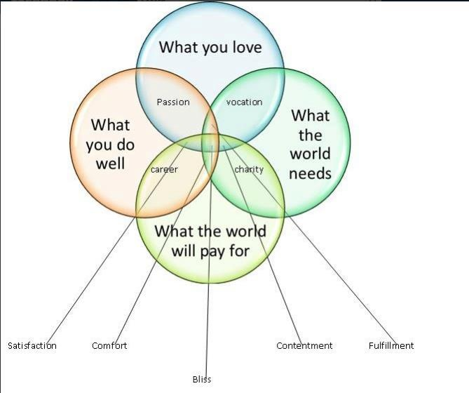 intersection of what you do well  u0026 love  what the world